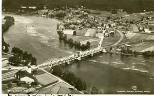 Flygfoto över Mora Noret 1937, Vykort